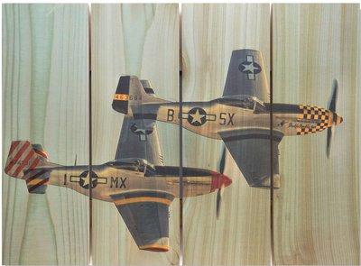 P-51 Mustang Wingman Indoor Outdoor Art - Medium