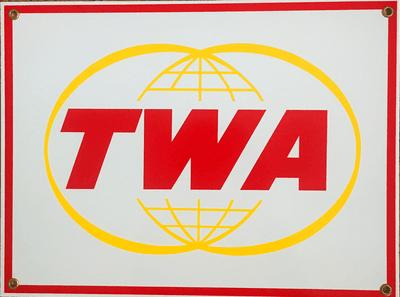 Vintage TWA Logo Sign <font color=red>Special Sale</font>
