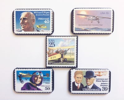 Aviation Magnets | Set of 5