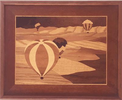 Hot Air Balloon Wood Art