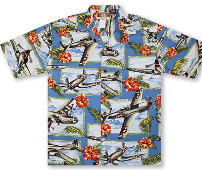 WW II Airplanes Hawaiian Shirt