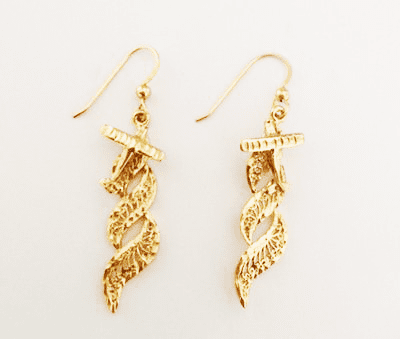Airshow 14k Gold Earrings <font color=red>67% Savings</font>