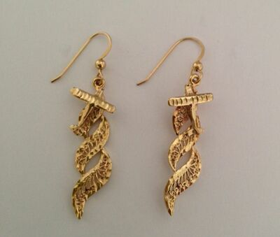 Airshow 14k Gold Earrings