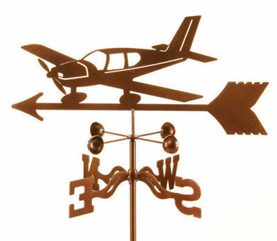 Steel Piper Style Airplane Weather Vane