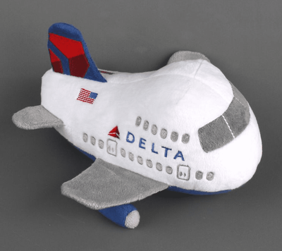 Delta Airlines Airplane Plush with Sound