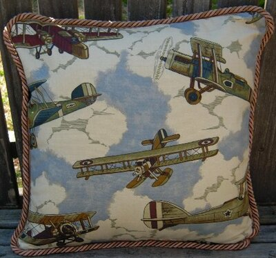 Antique Airplanes Pillow