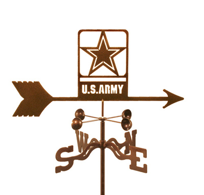 US Army Emblem Weather Vane - Modern