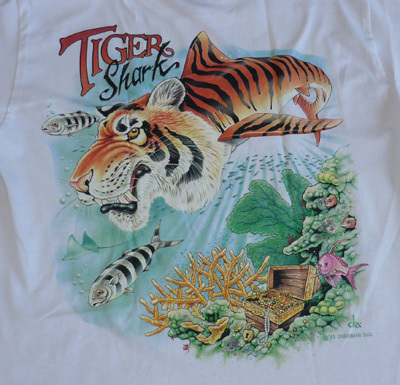 Tiger Shark Airplane Tee Shirt | Close-Out Special