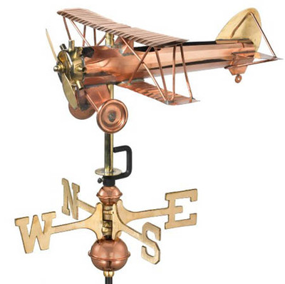 Airplane Weather Vane, Garden Size