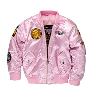 Child's Pink MA-1 Flight Jacket