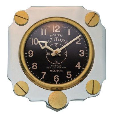 Metal Altimeter Wall Clock | Aluminum