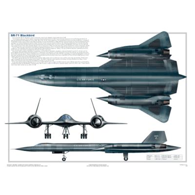 SR 71 Blackbird Poster | Laminated