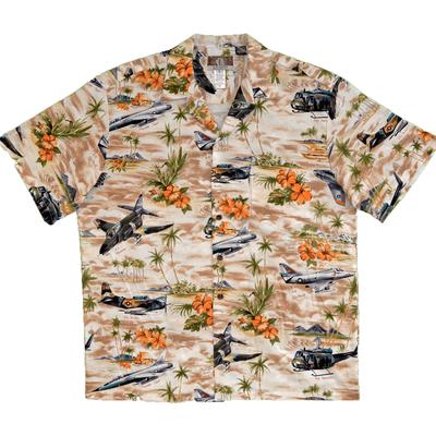Vietnam Aircraft & Huey Helicopter Hawaiian Shirt