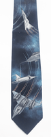 Jet Airplane Handpainted Silk Necktie