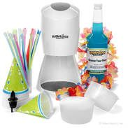 Shaved Ice Starter Package with Electric Shaved Ice Machine