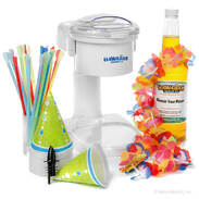 Snow Cone Starter Package with Electric Snow Cone Machine