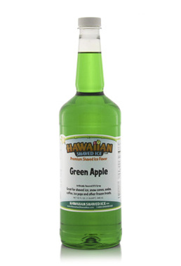 Shaved Ice Quart Size Syrup of the Month – Green Apple