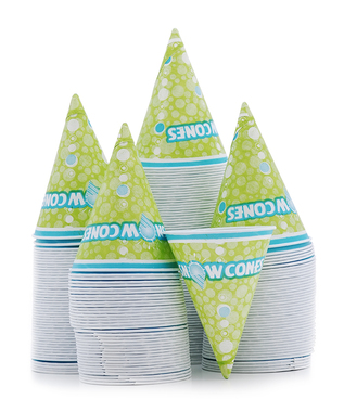 Sleeve of 200 - 6 Ounce Disposable Snow Cone Cups