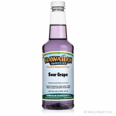 Sour Grape Shaved Ice and Snow Cone Syrup - Pint