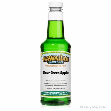 Sour Green Apple Shaved Ice & Snow Cone Syrup - Pint