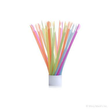 Neon Spoon Straws