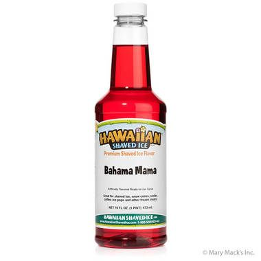 Bahama Mama Shaved Ice & Snow Cone Syrup - Pint