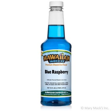 Blue Raspberry Shaved Ice & Snow Cone Syrup - Pint