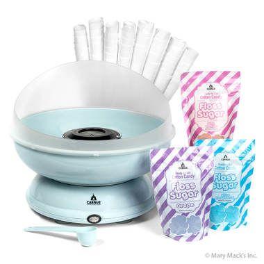 Carnüs Brand 3 Flavor Cotton Candy Party Kit