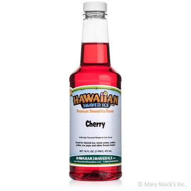 Cherry Shaved Ice & Snow Cone Syrup - Pint