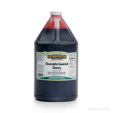 Chocolate Covered Cherry Shaved Ice and Snow Cone Syrup – Gallon