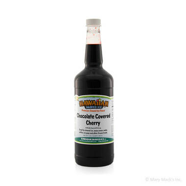 Chocolate Covered Cherry Shaved Ice and Snow Cone Syrup - Quart