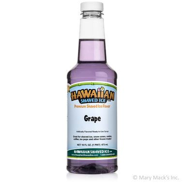 Grape Shaved Ice & Snow Cone Syrup - Pint