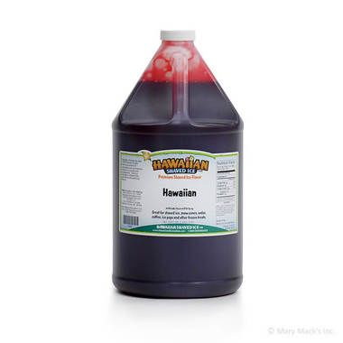 Hawaiian Shaved Ice and Snow Cone Syrup - Gallon