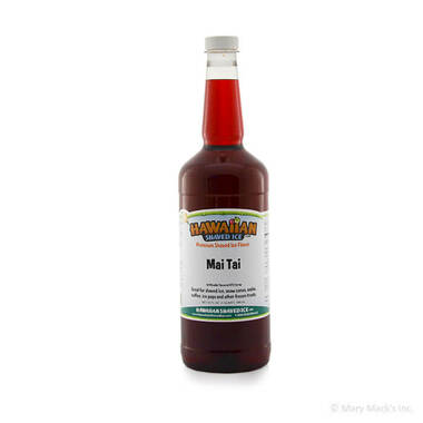 Mai Tai Shaved Ice and Snow Cone Syrup - Quart