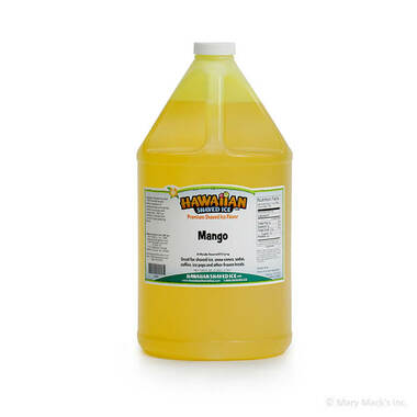 Mango Shaved Ice and Snow Cone Syrup - Gallon