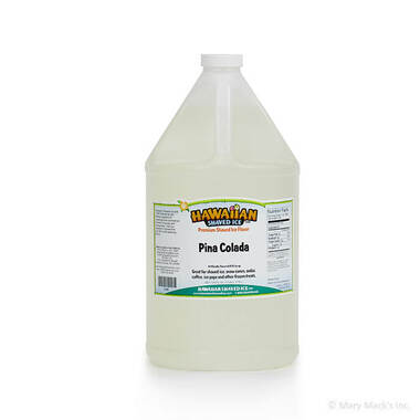 Pina Colada Shaved Ice and Snow Cone Syrup - Gallon