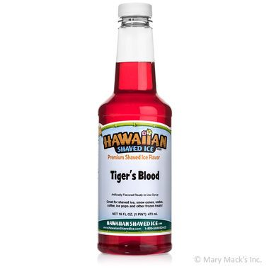 Tiger's Blood Shaved Ice & Snow Cone Syrup - Pint