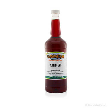 Tutti Fruiti Flavor Syrup for Shaved Ice - Quart