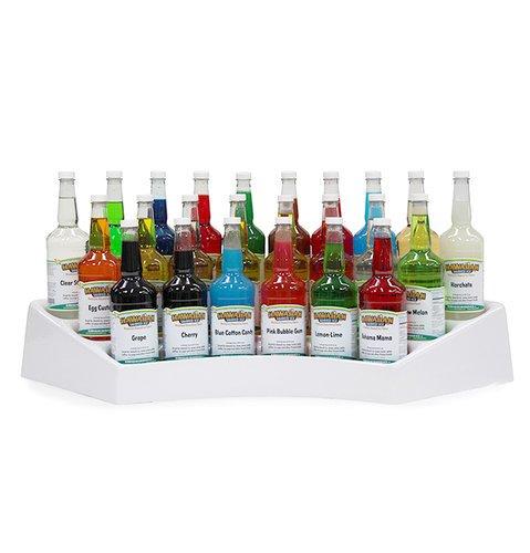 Bottle Rack for 24 Shaved Ice Syrup Bottles