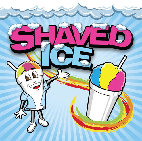 Shaved Ice Man Banner - 3' x 3'