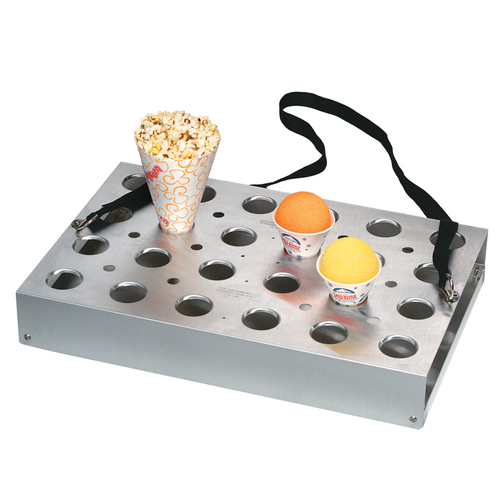 Vending Tray with Strap - 24 Hole