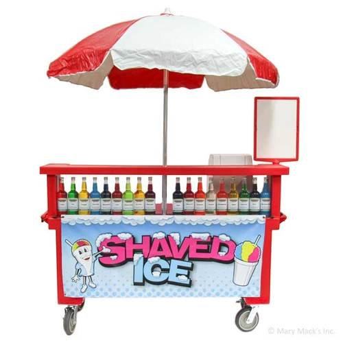 Shaved Ice Mobile Cart with Umbrella