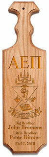 Alpha Epsilon Pi Traditional Greek Paddle