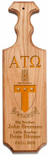 Alpha Tau Omega Traditional Greek Paddle