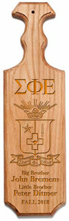 Sigma Phi Epsilon Traditional Greek Paddle