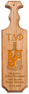 Tau Delta Phi Traditional Greek Paddle