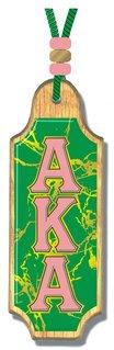 Alpha Kappa Alpha Marble Medallion Tiki