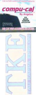 Tau Kappa Epsilon Greek letters over Name Sticker