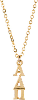 Alpha Delta Pi 22 k Yellow Gold Plated Lavaliere Necklace - ON SALE!