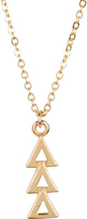 Delta Delta Delta 22 k Yellow Gold Plated Lavaliere Necklace - ON SALE!